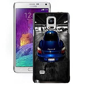 Fashion DIY Custom Designed Samsung Galaxy Note 4 N910A N910T N910P N910V N910R4 Phone Case For Blue Porsche Cayman S Phone Case Cover