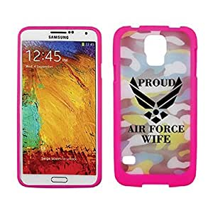 Galaxy S5 Proud Air Force Wife Camo (Pink)
