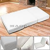 Magshion Memory Foam Mattresses Folding Bed (Full 54, White)