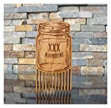 Moonshine Jar Wood Beard Comb