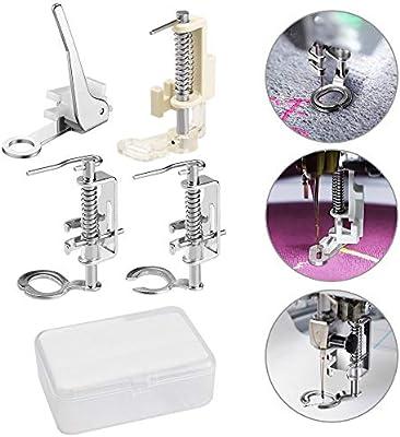 TANCUDER - 4 prensatelas para máquina de Coser y Caja de ...