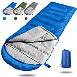 Angker Camping Sleeping Bag, Portable Lightweight Rectangle/Mummy Backpacking Sleeping Bag Compression Sack, 4 Season Sleeping Bags Adults & Kids Camping Travel Summer Outdoor