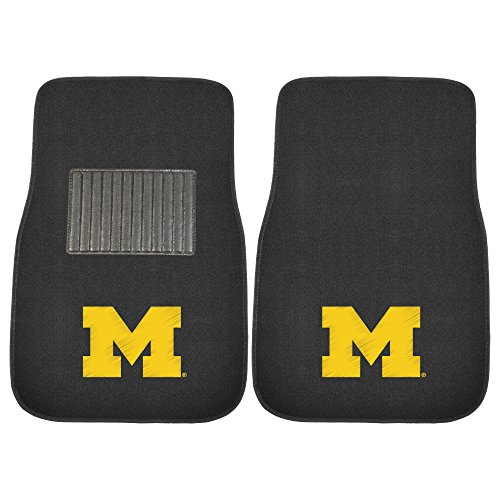 FANMATS 10752 Michigan 2-Piece Embroidered Car (Michigan Floor)