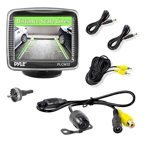 - Pyle Backup Car Camera  Rearview Monitor System - Parking and Reverse Assist w/ Waterproof and Night Vision Abilities, 3.5