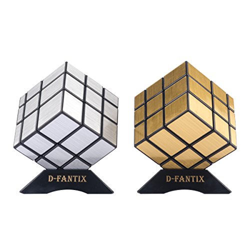 D-FantiX Shengshou Mirror Cube Set Mirror Block 3x3 Speed Cube Bundle Puzzle Silver Golden Pack of 2