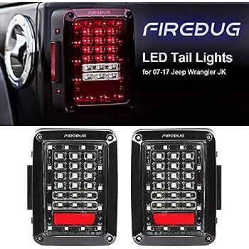 FIREBUG Jeep Wrangler Tail Lights, Jeep Wrangler LED Tail Lights, Jk TailLight,Led Tail Lights for Jeep Wrangler, Jeep Rear Lights, with Brake Light ...
