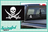 jolly roger car window decal - CALICO JACK'S JOLLY ROGER PIRATE FLAG 5