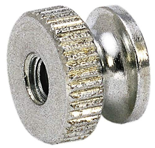 5/16-18'' UNC Thread, Uncoated, Grade 302, 303 Stainless Steel Round Knurled Thumb Nut pack of 10 by Electro Hardware