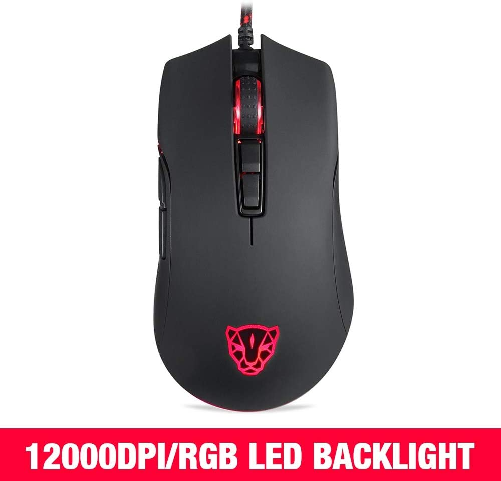 JINGZ V70 Gaming Mouse RGB 12000dpi with 7 Key PMW3360 Engine 250IPS with Backlight Premium Material