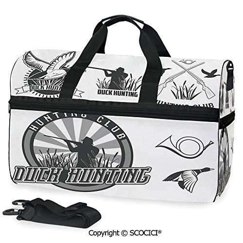 (Travel Duffel Bag Set of Adventurous Activity Symbols Personalized choice)