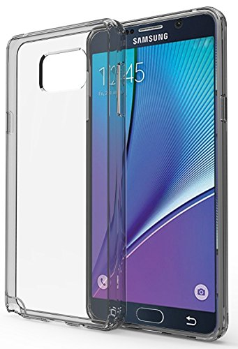 Galaxy Note 5 Case : Stalion [Hybrid Bumper Series] Shockproof Impact Resistance (Diamond Clear) Ultra Slim Fit with Diamond Clear Back + Raised Edges for Protection