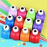 12Pcs Christmas tree and Snowflake Paper Punch,Crafts Punch, Scrapbooking Punches ,Kid Cut DIY Handmade Hole Puncher for Christmas Cards Making