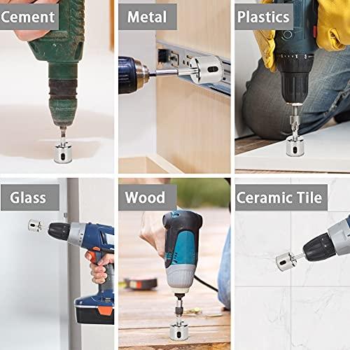 JOHOUSE Diamond Drill Bit Set, 10PCS Hole Saw Set for Granite Stone, Glass, Porcelain, Marble