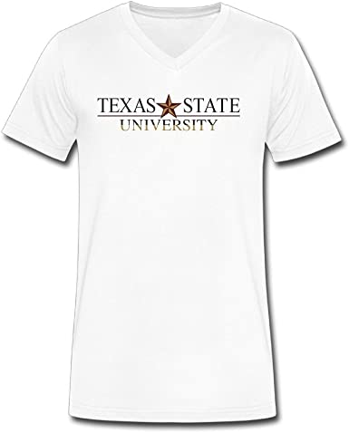 Texas State University Logo Camiseta de cuello de pico Funny ...