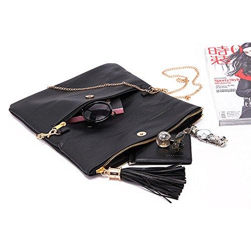 a Leather strap Designer Messenger with Quality Fashion Red Purposefull Handbag Women's High Luxury Clutch Bag Bag wq81I0
