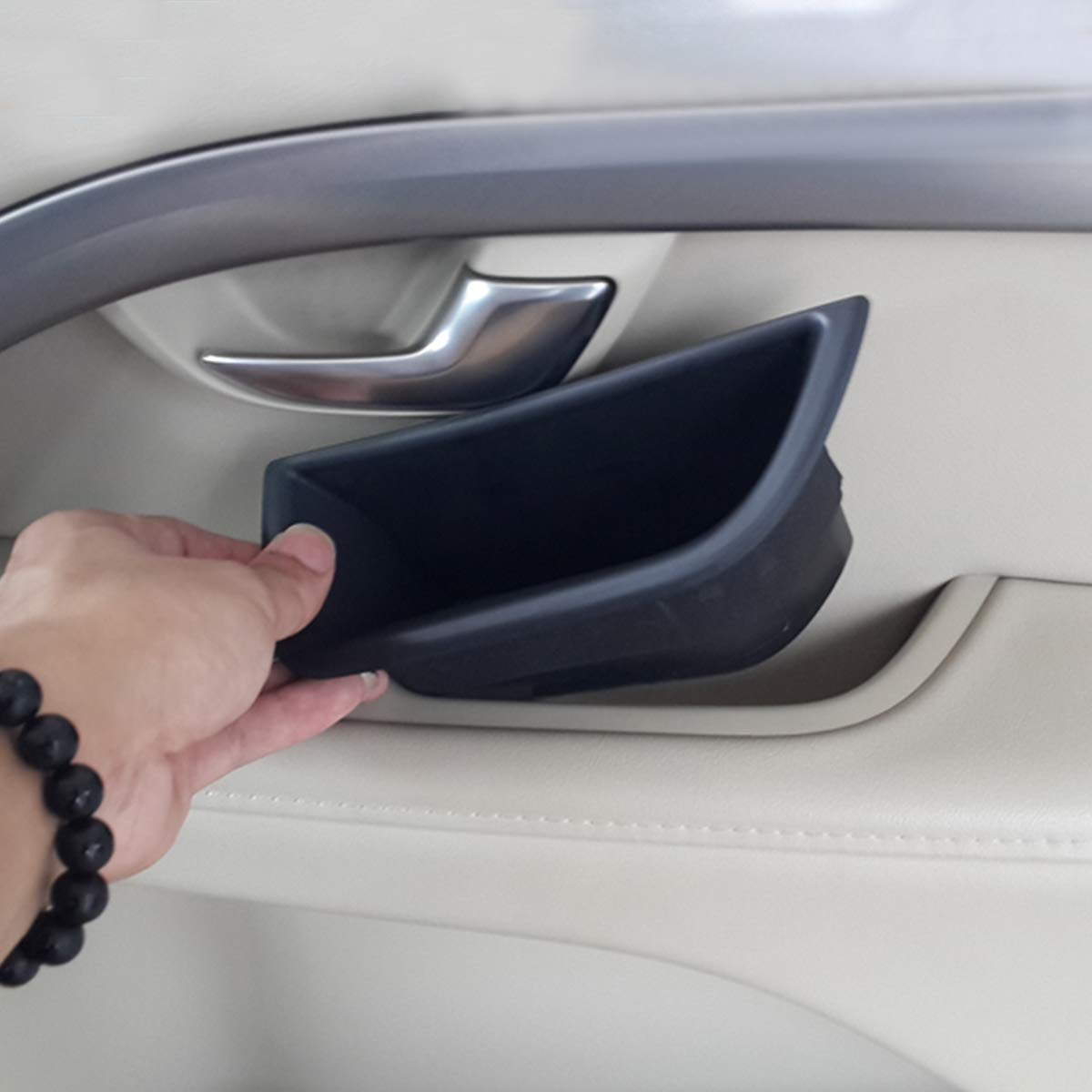 Schwarz Aufbewahrungsbox f/ür Handschuh-Armlehne V70 f/ür S80 XC70
