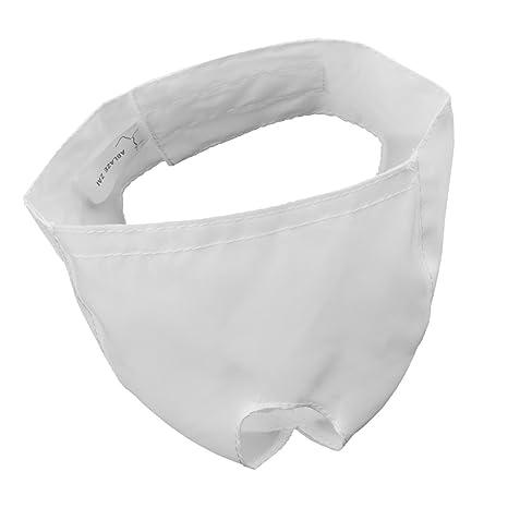 NON Sharplace Bozal de Gato para Preparación Accesoiros Diseño de Cierre Gancho Bucle Duradero - Blanco
