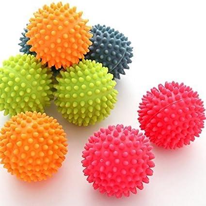 tia-ve 2pcs reutilizable no tóxico secador de bolas de lavandería bolas pelotas de atención de la tela lavado, color al azar