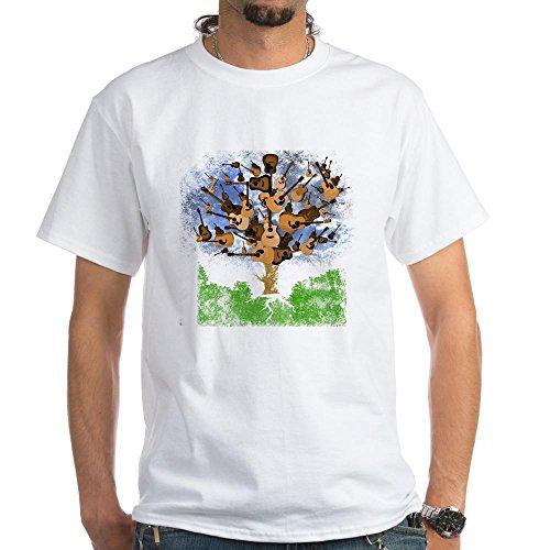 Gretsch Les Paul - CafePress Guitar Tree Color - 100% Cotton T-Shirt, White