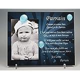 Cadre Photo Aimant pour Parrain – (Cadeau Parrain Marraine Baptême & Communion)