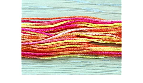 Pack of 6 skeins Anchor multi-coloured threads