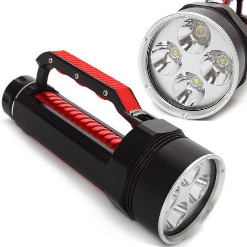 ECHTPower 2014 Brandneu Profi Diving Bis 100m Tiefe 4x CREE XML L2 6800Lm LED Tauchlampe Taschenlampe Flashlight Torch