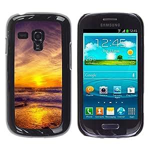 Exotic-Star ( Sunset Sea Beautiful Nature 11 ) Fundas Cover Cubre Hard Case Cover para Samsung Galaxy S3 III MINI (NOT REGULAR!) / I8190 / I8190N