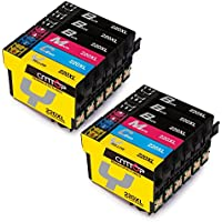 CMTOP 2 Set+4 Black Remanufactured 220 220XL Ink Cartridges High Yiled (6 Black, 2 Cyan, 2 Magenta, 2 Yellow) for Expression Home XP-420 XP-320 XP-424 WF-2630 WF-2650 WF-2760 WF-2660 WF-2750 Printer