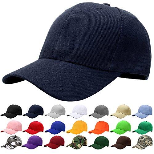 Falari Baseball Cap Adjustable Size Solid Color G001-02-Navy