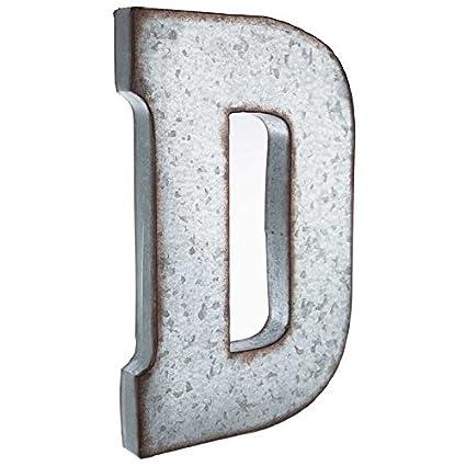 huge 20 metal alphabet wall dcor letter d