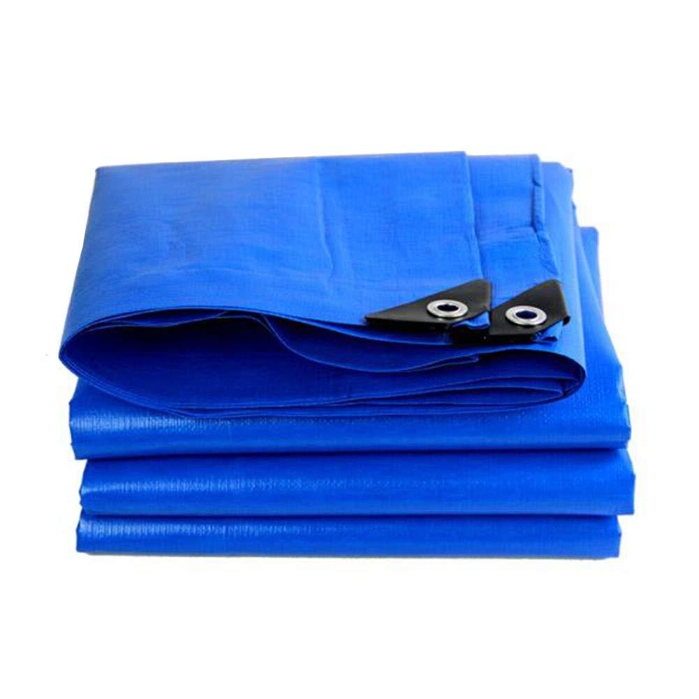 CJC Voiles d'ombrage Prougeection Solaire Feuille De BÂche Imperméable, Couverture pour Tente Camping, Hamac, Bassin Polyvalent (Couleur   bleu, Taille   10x5m) bleu 10x5m