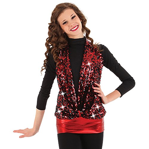Fire Dancing Costumes (Alexandra Collection Youth On Fire Sequin Dance Costume Top Red Medium)