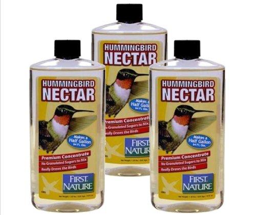 First Nature 3 Ea 16 Oz Clear Hummingbird Nectar Concentrate 3052 (Concentrate Hummingbird Nectar)
