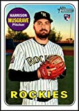 2018 Topps Heritage High Number Baseball #594 Harrison Musgrave RC Rookie Colorado Rockies Official MLB Trading Card