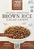 One Degree Organic Foods Sprouted Brown Rice Cacao Crisp, 10 Ounce - 6 per case.