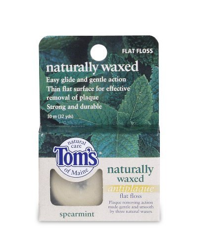 Dental Floss - Spearmint, Anti Plaque, Flat, 32 yard ( Value Bulk Multi-pack) by Tom's of - Mall Maine The