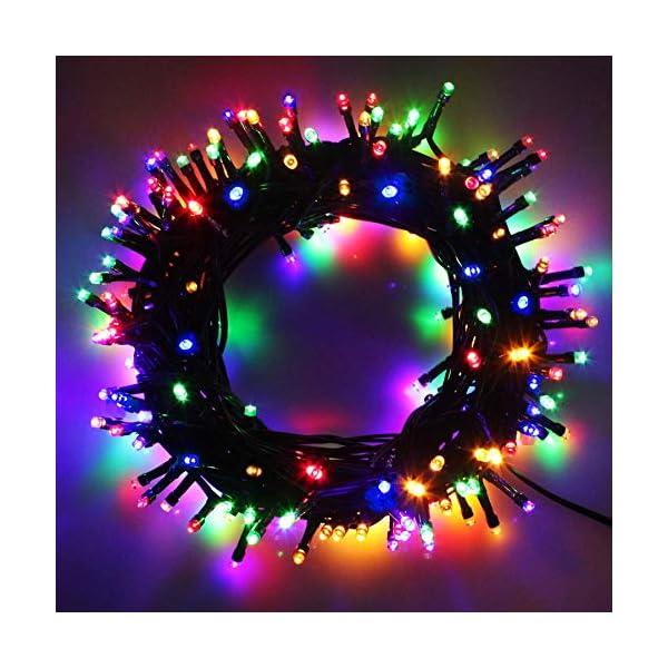 Cavo Verde Scuro Catena Luci A Led Luminoso Natalizia 500 Leds 52.8m Luce Lucciole Con Controller 8 Funzioni Ideale Per Natale Compleanni Feste (Multicolor Colori) 1 spesavip