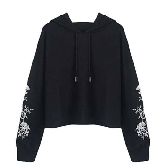 AOJIAN Women Hoodie Long Sleeve Hooded Embroider Casual Jumper Sweatshirt Pullover at Amazon Womens Clothing store: