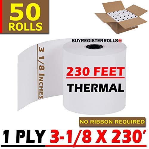 3 1/8 230 50 Thermal Paper roll 50 Receipt Rolls Thermal Paper Rolls TM-T88 T-20 T-90 | Super Value Pack | - from RegisterRoll 318230