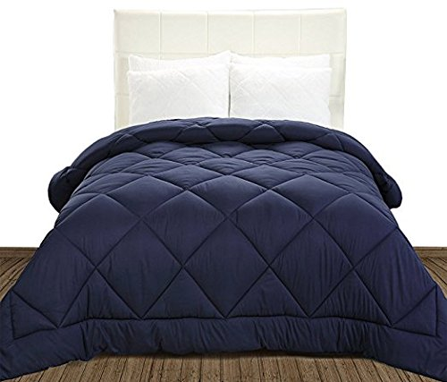 Price comparison product image Utopia Bedding Comforter Duvet Insert (King) - Ultra Plush Hypoallergenic, Siliconized fiberfill, Down Alternative Comforter - Navy