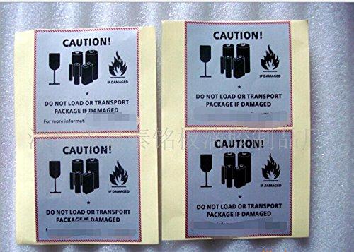 10000 pcs cartoon label warning adhesive label sticker 88CM High-temperature resistance matt silver /Metalized polyester adhesive (Matt Silver Polyester)