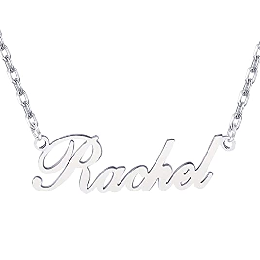 Name Necklace Personalized, Custom Made Nameplate Necklace Dainty Sterling Silver Gift for Mother Girlfriend