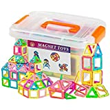 wokashaka Magnetic building Blocks-64 PCS Kids Magnet Toys Construction Building Tiles for Creativity Educational-Come with a Container box (64pcs)