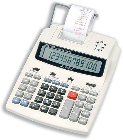 5 Star P12D - Calculadora con impresora (12 dígitos, 2,7 líneas ...
