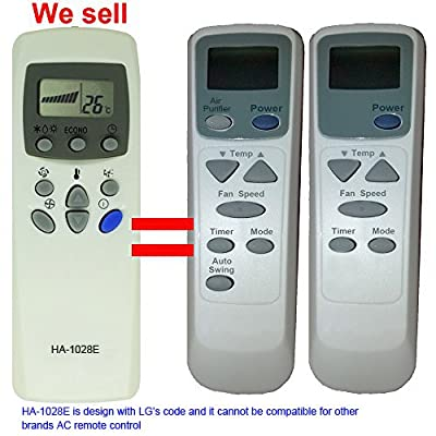 Replacement LG Air Conditioner Remote Control 6711A20052M 6711A20052A 6711A20052J Work for LA1000PR LWC101VLPA1 LW1000PR LW1000PRY3 LW1200PR LW1200PRY3 LW1500PR LW1500PRY3 LW1800PR LW1800PRZ3