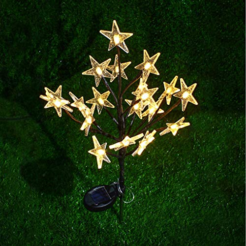 (DIRANCE @ Romantic Colorful Stars Solar Garden Lights LED, Ground Lanterns for Party Lawn Garden Decoration (B))