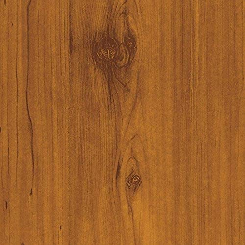 """Magic Cover Adhesive Vinyl Paper for Lining Shelves and Drawers, Decorating and Craft Projects, 18"""" x 60', Knotty Pine"""