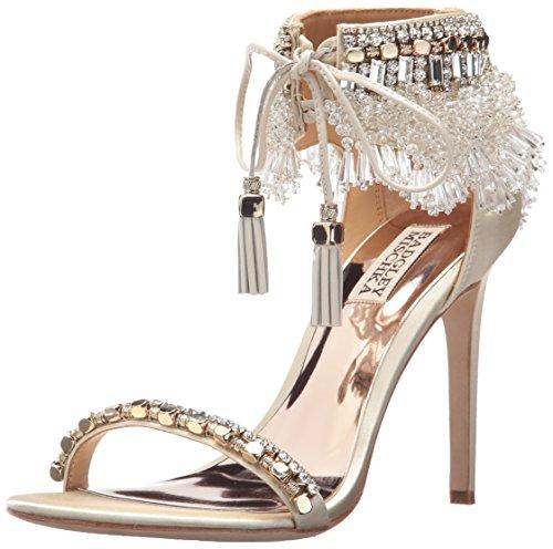 Badgley Mischka Women's Katrina Heeled Sandal, Ivory, 7 Medium US