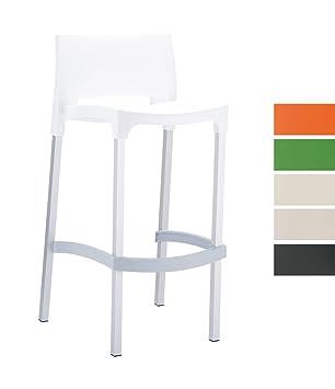 Chaise De Aluminium Bar Assise Plastique Haute Clp Et Piètement Gio Stable Tabouret Très 75 Avec En Légère Hauteur Extérieur Cm QshCtrdx