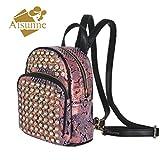 Aisunne Mini Fashion Backpack purse Backpacks Rivets Rhinestone For Women